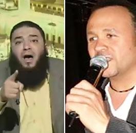 """داعية سلفي يصرخ في حفل لهشام عباس: """"الغناء حرام"""""""