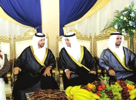 حمدان بن زايد يحضر أفراح المهيري