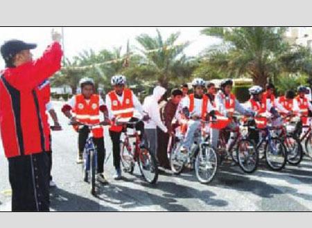 جمعية الفيحاء تنظم ماراثون الدراجات الهوائية