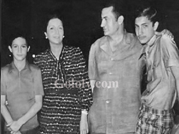 حسني مبارك وعائلته في بداية حكمه
