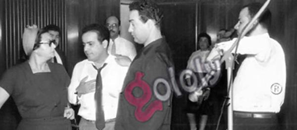 ام كلثوم ومحمد فوزي وبليغ حمدي