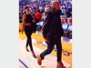 بالصور.. ريهانا وكريس براون يحضران مباراة كرة السلة