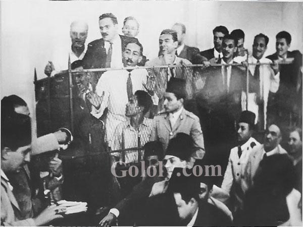 السادات اثناء قضية امين عثمان