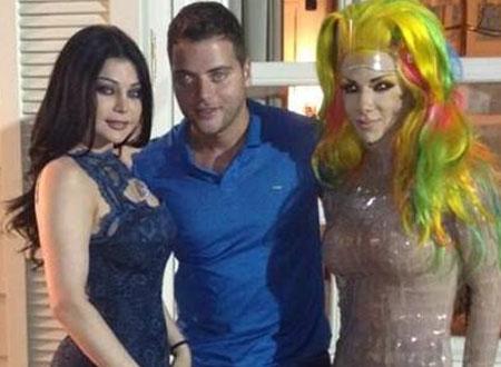 هيفاء وهبي تنعي الضحايا وتلتقي ليدي جاجا في حفل عشاء.. صور