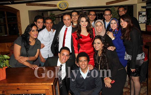 صابرين وحنان مطاوع فى خطوبة هبة مجدى ومحمد محسن