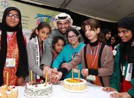 صور.. حسين الجسمي مع متحدي الإعاقة