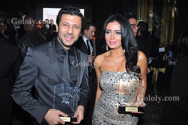 رانيا يوسف _ اياد نصار - حفل تكريم النجوم والاعلاميين في مهرجان القنوات الفضائية