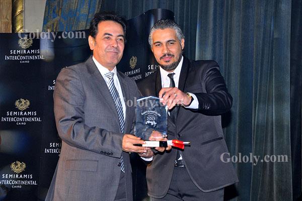 خيري رمضان - حفل تكريم النجوم والاعلاميين في مهرجان القنوات الفضائية