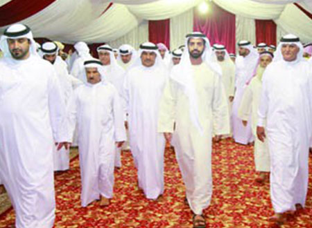 محمد بن سعود القاسمي يحضر مأدبة إفطار برأس الخيمة