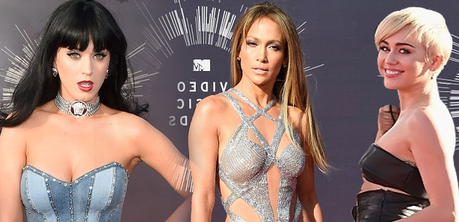 بالصور.. نجمات الفن والغناء يتألقن على السجادة الحمراء في حفل جوائز MTV