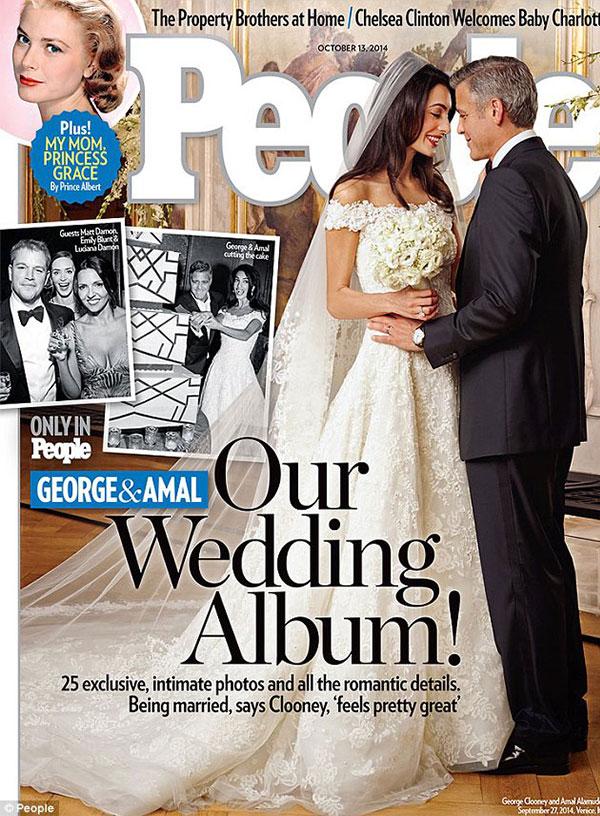 شاهد.. أول صورة لزفاف جورج كلوني وأمل علم الدين