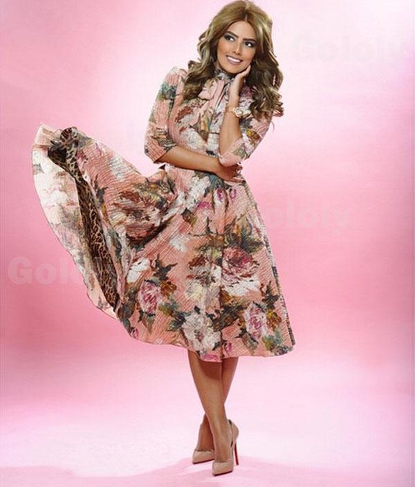 cc3b505b4 جولولي | هيا عبد السلام أنثى ناعمة بفستان برائحة الورد.. شاهد