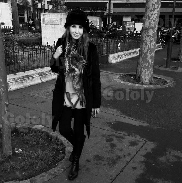 جولولي   نانسي على الغداء مع أصدقائها وتستمتع بالكريسماس مع زوجها في باريس.. صور