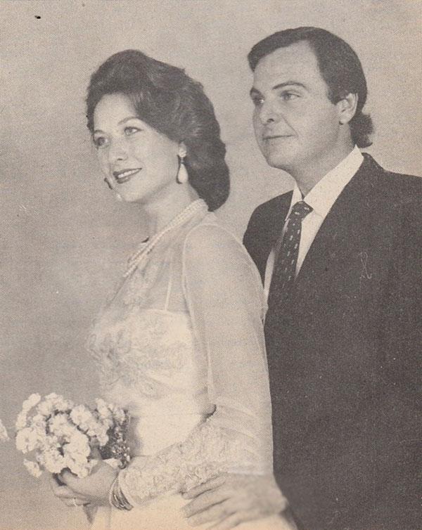 رغدة في صورة نادرة ليلة زفافها علي والد أطفالها الأربعة