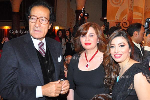فاروق حسني - غادة رجب - الهام شاهين - تكريم النجوم بافتتاح مهرجان المركز الكاثوليكي