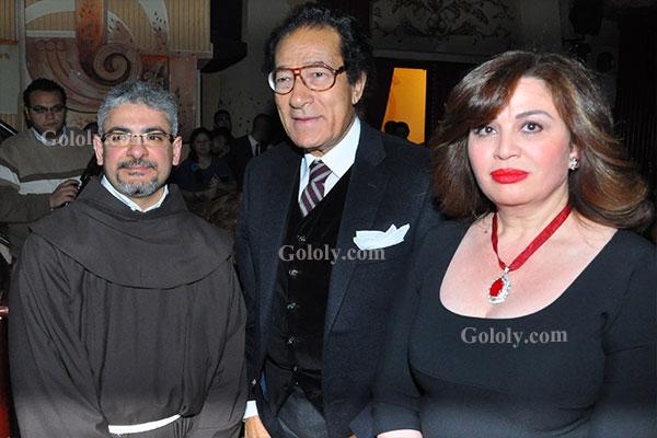فاروق حسني - الهام شاهين - تكريم النجوم بافتتاح مهرجان المركز الكاثوليكي 2