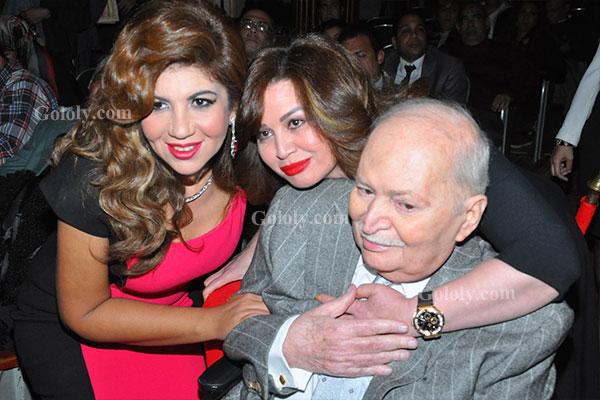 بوسي شلبي - الهام شاهين - تكريم النجوم بافتتاح مهرجان المركز الكاثوليكي