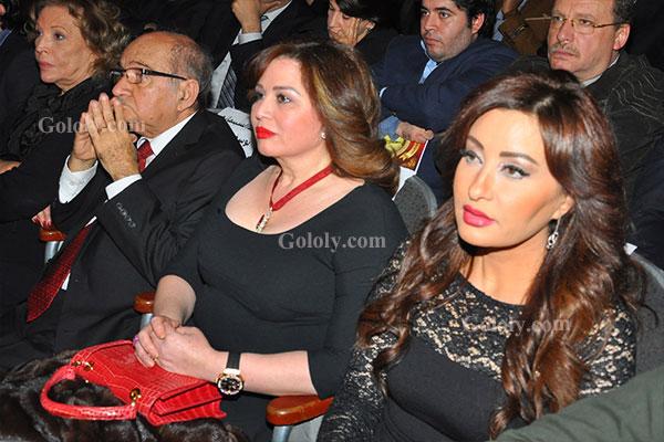الهام شاهين - لطيفة - تكريم النجوم بافتتاح مهرجان المركز الكاثوليكي