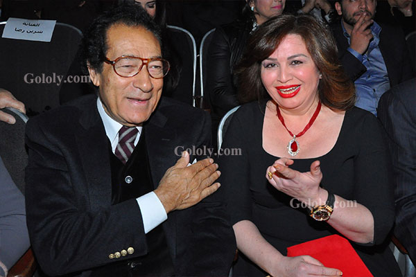 الهام شاهين - فاروق حسني - تكريم النجوم بافتتاح مهرجان المركز الكاثوليكي 3