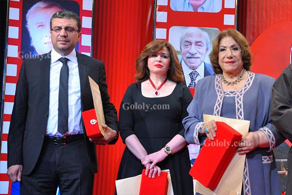 الهام شاهين - سميحة ايوب - عمرو اليثي - تكريم النجوم بافتتاح مهرجان المركز الكاثوليكي 2