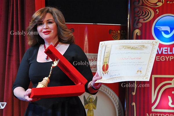 الهام شاهين - تكريم النجوم بافتتاح مهرجان المركز الكاثوليكي 4