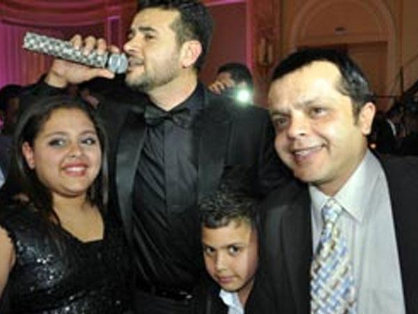 صورة عائلة الفنان محمد هنيدى