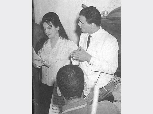 عبد الحليم حافظ مع شادية في معبودة الجماهير