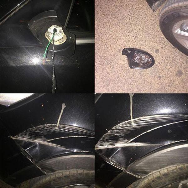 جولولي | مروة نصر وزوجها يتعرضان لحادث سيارة.. شاهد