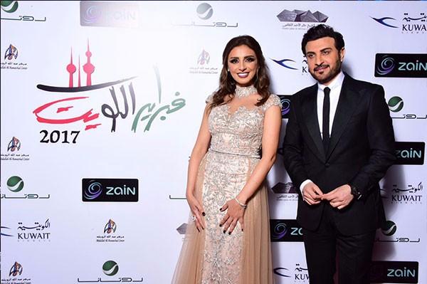 انغام تتألق باطلالة عالمية فيفبراير الكويت