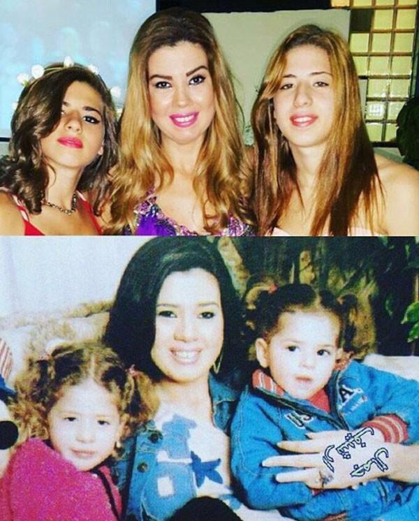 رانيا فريد شوقي وابنتيها