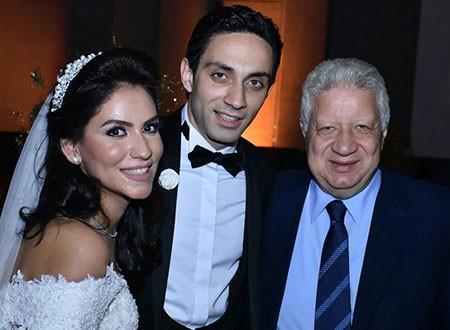 جولولي بالصور حفل زفاف ابن أخت مرتضى منصور بحضور النجوم