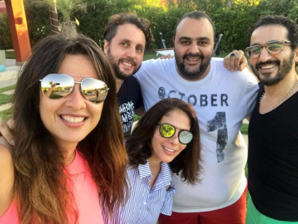 ياسمين عبدالعزيز و احمد حلمي و هشام ماجد و شيكو و منى زكي