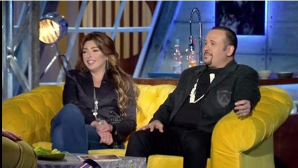 هشام عباس وزوجته