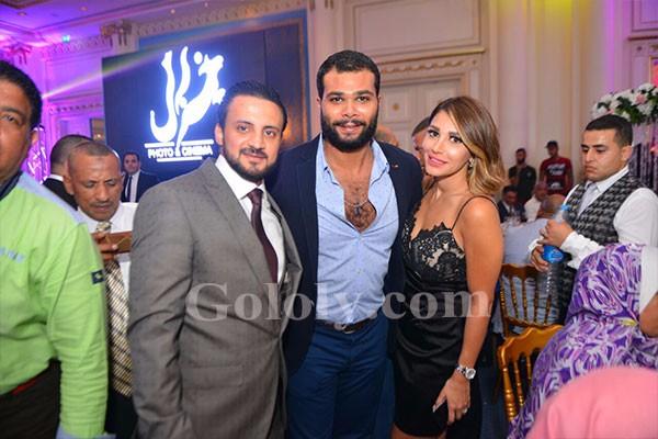 محمد حماقي و ساموزين و بوسي و دينا يشعلون زفاف أبنة عم اشرف زكي