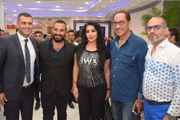 خالد سليم و حمادة هلال و سمية الخشاب و احمد سعد والمشاهير في احتفالية خبير التجميل هشام ربيع