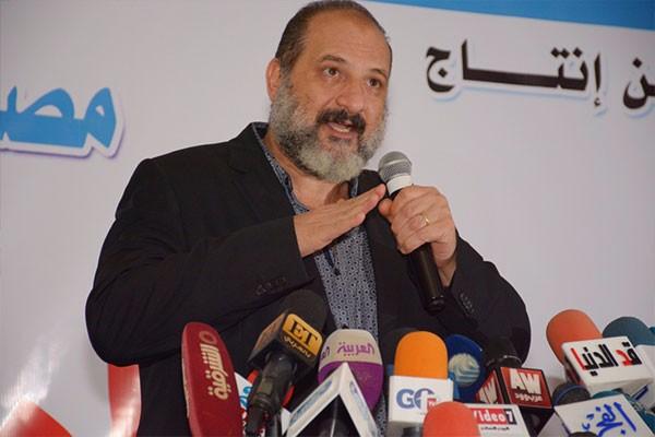 غادة عبدالرازق و عمرو سعد و وفاء عامر و خالد الصاوى فى مؤتمر فيلم كارما