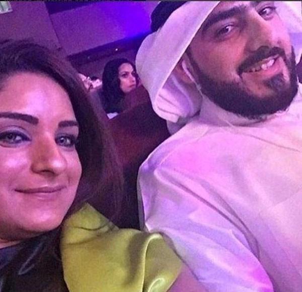 مرام البلوشي وزوجها