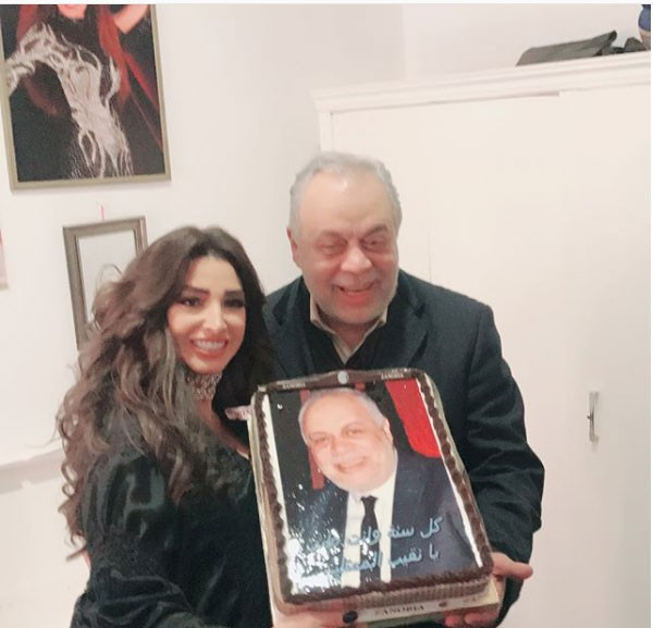 روجينا تحتفل بعيد ميلاد اشرف زكي