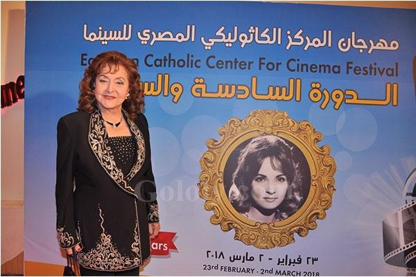 تكريم ليلى طاهر و حسن حسني و رشوان توفيق و ليلى علوي و ياسر جلال واخرون فى افتتاح مهرجان المركز الكاثوليكى للسينما