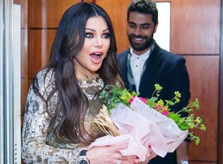هيفاء وهبي تحتفل بعيد ميلادها للمرة الثانية بإطلالة جريئة.. شاهد