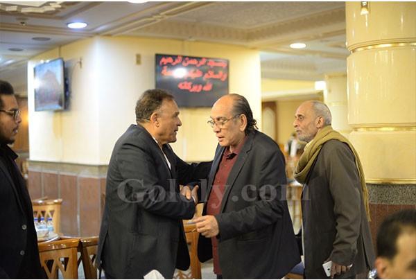 نجوم الفن في عزاء شقيق عمرو عبدالجليل