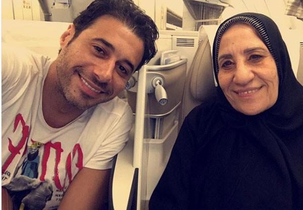 احمد السعدني ووالدته