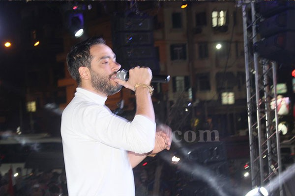 محمد عدوية و رامي جمال و احمد زكريا يشعلون حفل من أجل مصر احتفالا بفوز الرئيس بالدورة الثانية