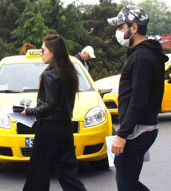 نسليهان أتاغول وزوجها المستشفى