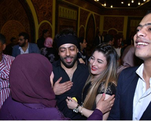 تامر عاشور برفقة زوجته السابقة شقرة قران الفنانة شيماء