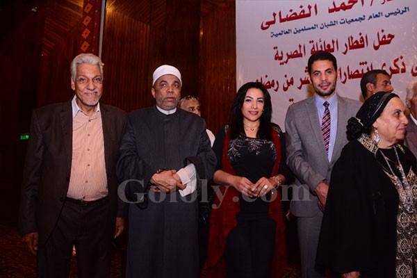 تكريم مفيد فوزي ونجوم الفن بحفل افطار العائلة المصرية