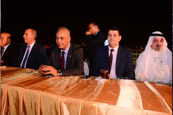 حفل الإفطار الجماعى الذي نظمته رابطة أبناء الصعيد بحضورابراهيم محلب
