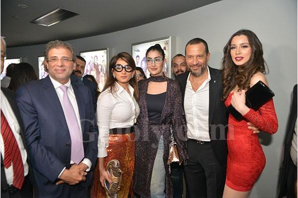 غادة عبدالرازق وزينه و عمرو سعد في العرض الخاص لفيلم كارما