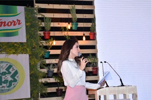 درة و لميس الحديدي بحفل إفطار كمل كرمك برعاية بنك الطعام المصري