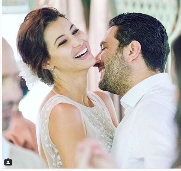 وسام بريدي وزوجته ريم سعيدي